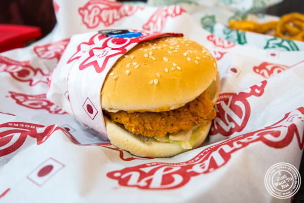 Hand-filet chicken sandwich at Carl's Jr in Noida, India