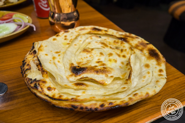 Butter naan at Bukhara in Delhi, India