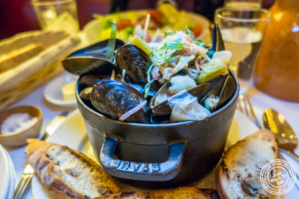 Bouchot mussels at Cherche Midi in Soho