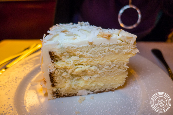 Coconut cake at Cherche Midi in Soho