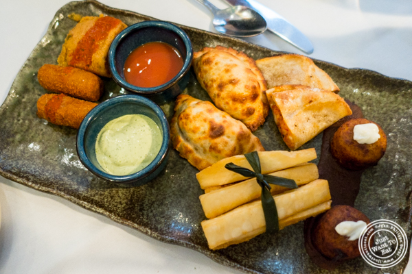 Appetizer sampler at Victor's Cafe in NYC, NY