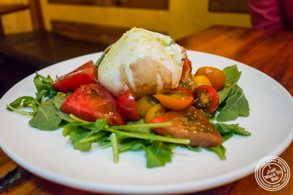 Heirloom tomato and burrata salad at Alice's Arbor in Clinton Hill, Brooklyn