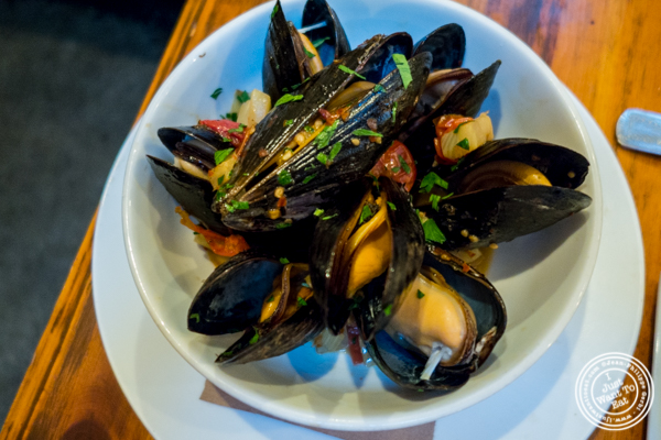 Mussels at Alice's Arbor in Clinton Hill, Brooklyn