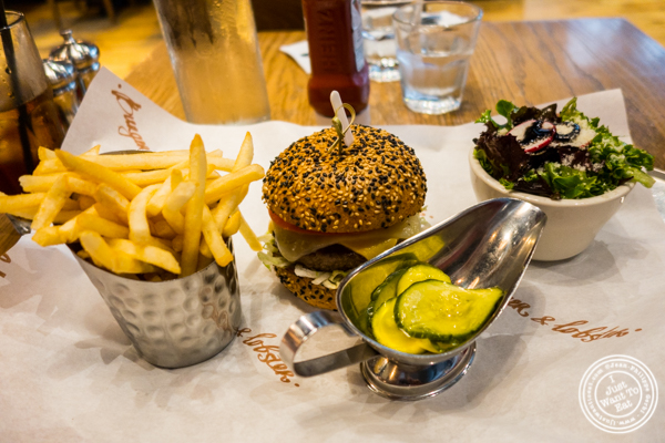 London burger at Burger and Lobster in NYC, NY