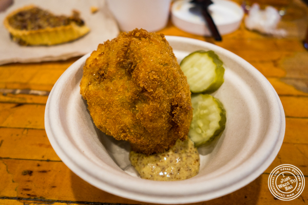 Boudin ball at The Gumbo Bros in Brooklyn