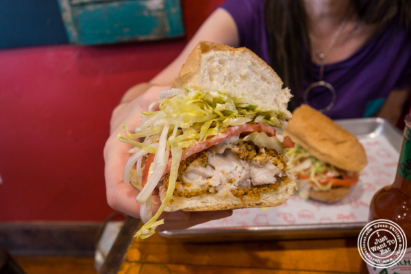 Catfish Po'Boy at The Gumbo Bros in Brooklyn