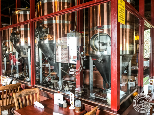 Fermenters at JJ Bitting Brewery Co in Woodbridge, NJ