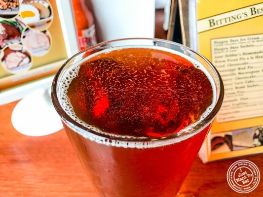 Aldahat amber beer at JJ Bitting Brewery Co in Woodbridge, NJ