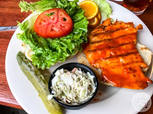 Buffalo chicken sandwich at JJ Bitting Brewery Co in Woodbridge, NJ