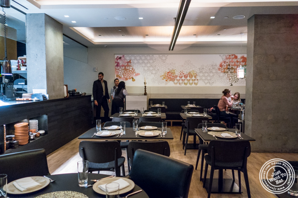 Dining room at Ortzi at the Luma Hotel in NYC