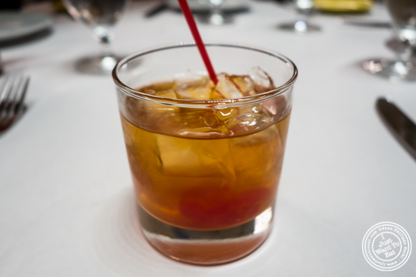 Old Fashioned at Michael Jordan's Steakhouse in Grand Central Terminal