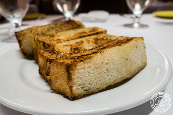 Garlic bread at Michael Jordan's Steakhouse in Grand Central Terminal