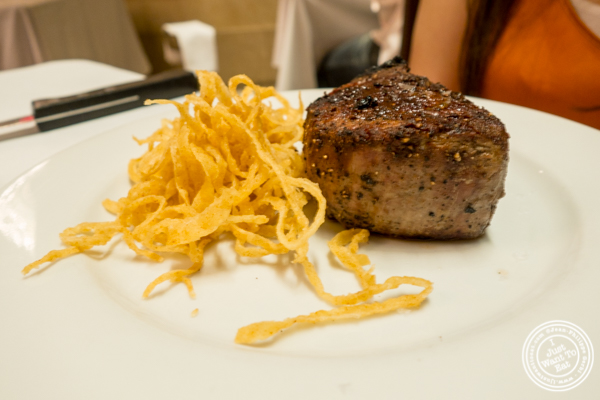 Filet mignon at Michael Jordan's Steakhouse in Grand Central Terminal