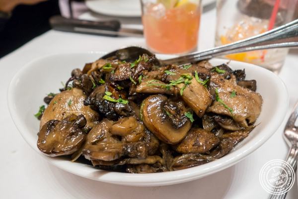 Mushrooms at Michael Jordan's Steakhouse in Grand Central Terminal