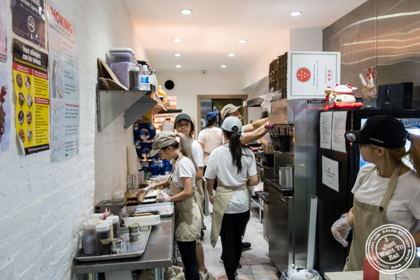 Kitchen at Taiyaki in Chinatown, NYC