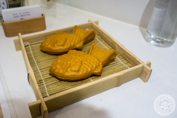 Fish shaped cake at Taiyaki in Chinatown, NYC