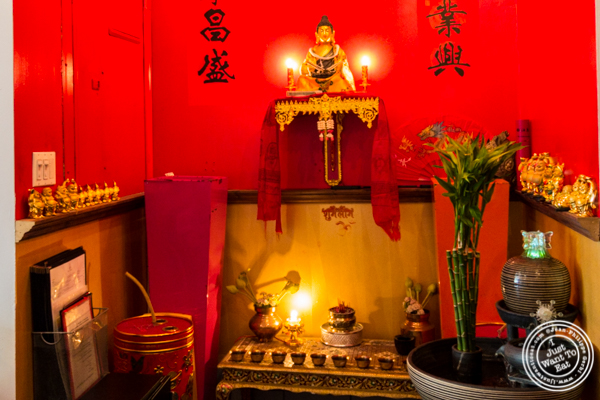 Chinese temple at The Chinese Club in Williamsburg, Brooklyn