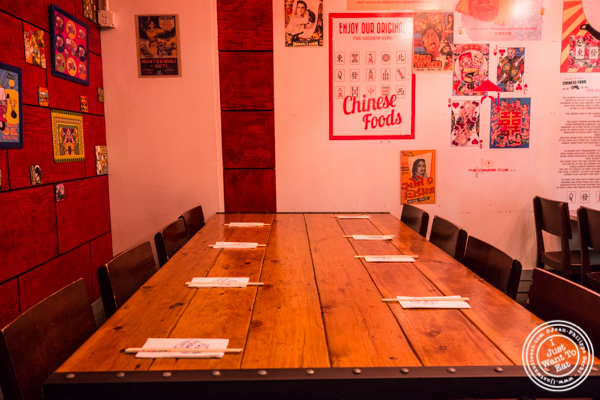 Dining room at The Chinese Club in Williamsburg, Brooklyn