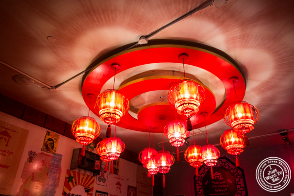 Chandelier at The Chinese Club in Williamsburg, Brooklyn