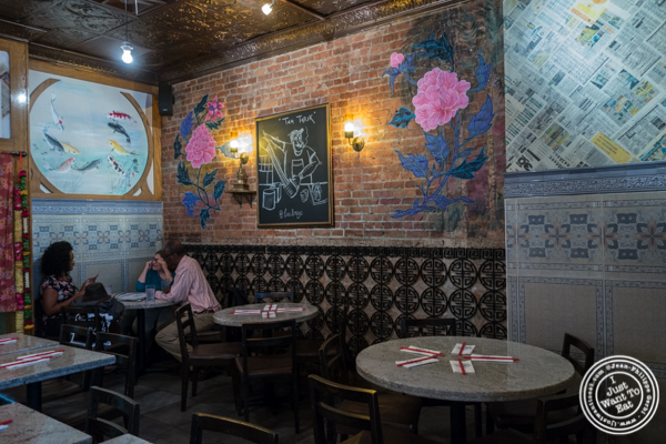 Dining room at Laut in NYC, NY