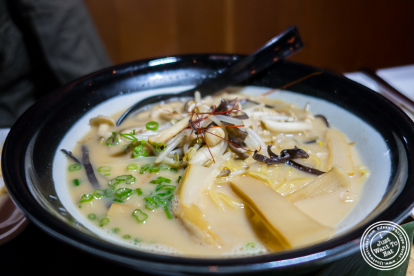 Vegetarian ramen at Amami in Greenpoint, Brooklyn