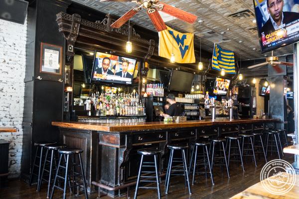 Bar of Green Rock Tap & Grill in Hoboken, NJ