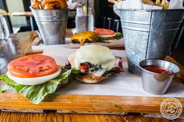 Veggie burger at Green Rock Tap & Grill in Hoboken, NJ