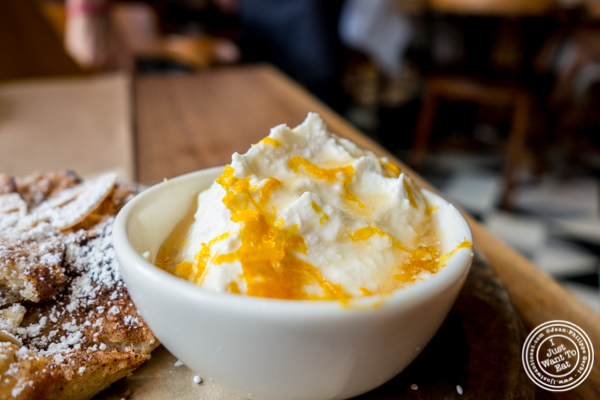 Ricotta and honey at L'Amico in Chelsea, NYC, NY