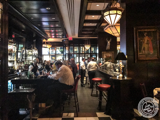Bar area at The Capital Grille in NYC, NY