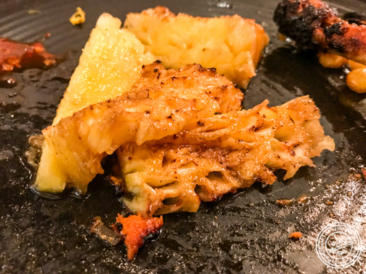 Grilled pineapple at Pirates of Grill at The Mall of India, Noida
