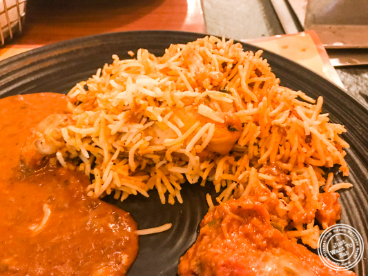 Chicken biriani at Pirates of Grill at The Mall of India, Noida