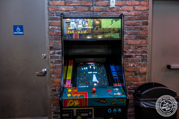 Arcade game at Printers Alley in NYC, NY
