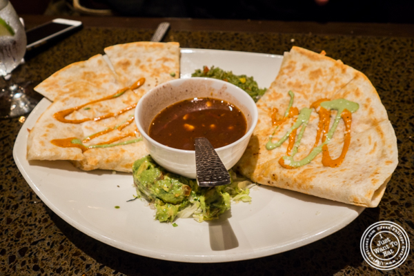 Lobster quesadilla at Sinigual in Murray Hill, NYC, NY