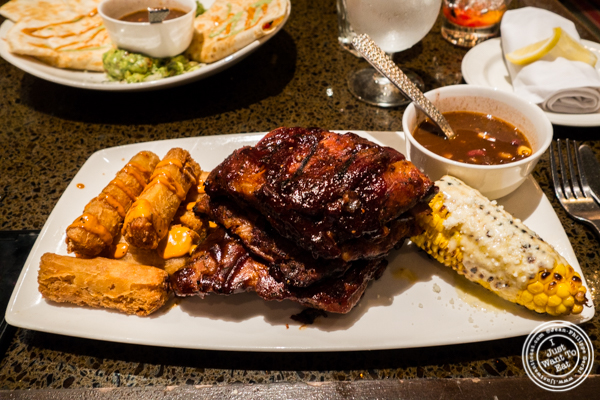 Chipotle bbq ribs at Sinigual in Murray Hill, NYC, NY
