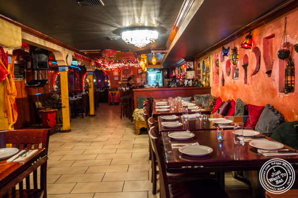 Dining room at Tagine in NYC, NY
