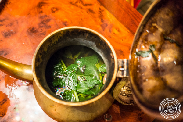 Moroccan mint tea at Tagine in NYC, NY