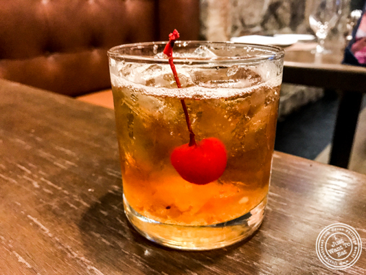 Old fashioned at Bistro 72 in Riverhead, Long Island