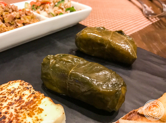 Grape leaves at Bistro 72 in Riverhead, Long Island