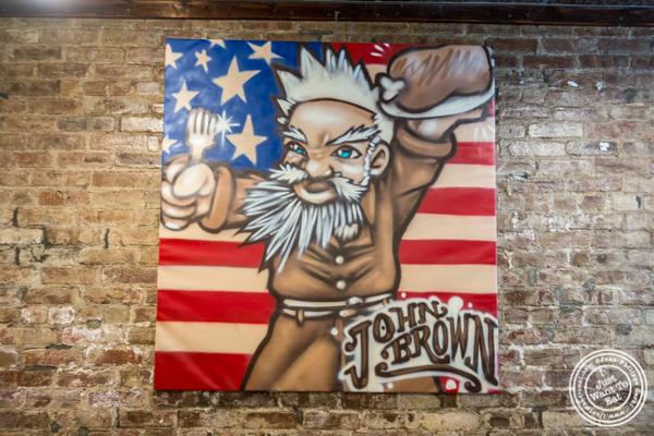 Decor at John Brown Smokehouse in Long Island City