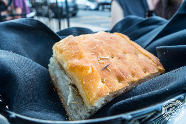 Focaccia bread at Otto Strada in Hoboken, NJ