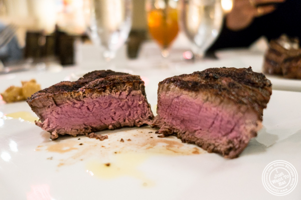 Filet mignon at Davio's Italian Steakhouse in NYC, NY