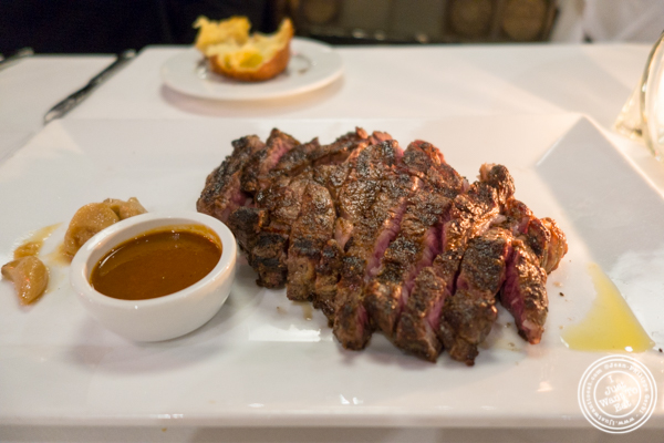 Ribeye at Davio's Italian Steakhouse in NYC, NY