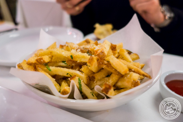 Truffle fries at Davio's Italian Steakhouse in NYC, NY