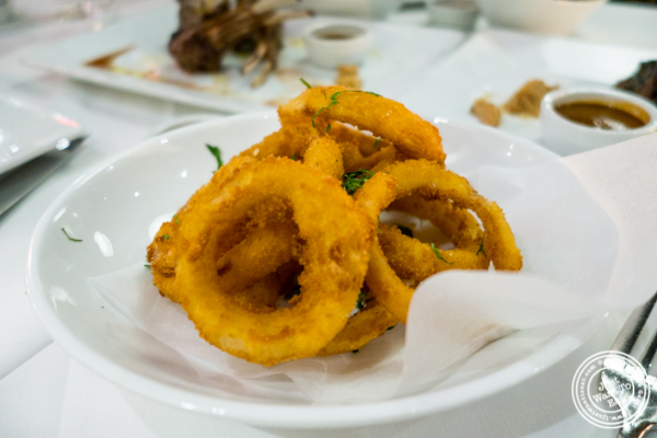 Onion rings at Davio's Italian Steakhouse in NYC, NY