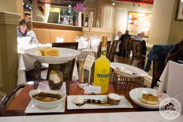 Dessert cart at Davio's Italian Steakhouse in NYC, NY