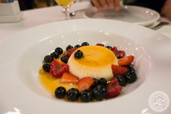 Pannacotta at Davio's Italian Steakhouse in NYC, NY
