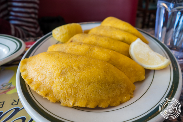 Beef empanada at Tierras Colombianas in Astoria, Queens