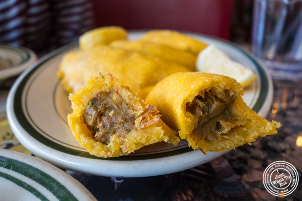 Beef empanadas at Tierras Colombianas in Astoria, Queens