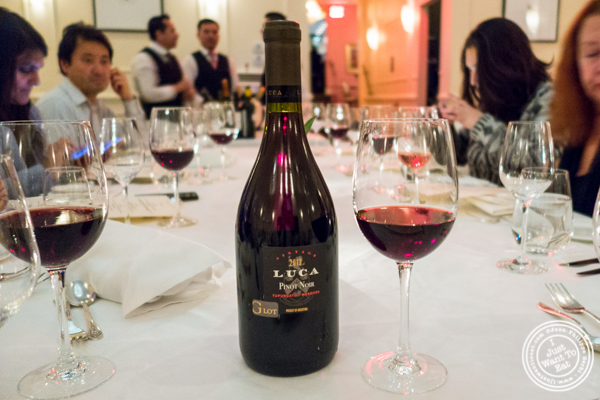 Pinot Noir Luca 2013 at Chimichurri Grill East, NYC, NY