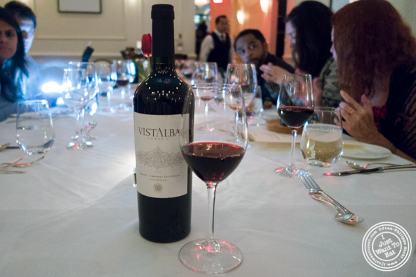 Vistalba Cortec wine 2014 at Chimichurri Grill East, NYC, NY